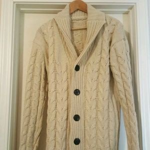 Other - Mens Cable-knit Cardigan Sweater (size L)